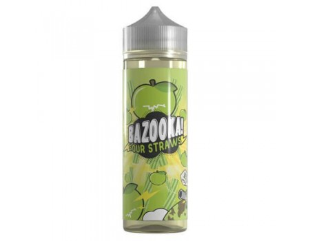 Bazooka Sour Straws eJuice - Green Apple Sour Straws - 60ml